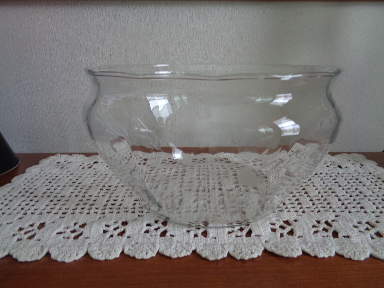 Primary image for Princess House Heritage Hand Blown Crystal Bowl # 482 Clear with Flowers
