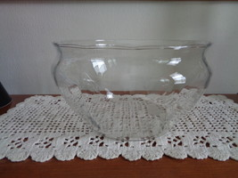 Princess House Heritage Hand Blown Crystal Bowl # 482 Clear with Flowers - $59.99