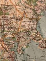 Walker & Co. Antique 1903 Lot Brookline Boston Road Map Cyclist Iver Johnson image 3