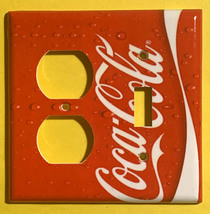 Coke Coca Cola Logo Light Switch Power Outlet wall Cover Plate Home decor image 9
