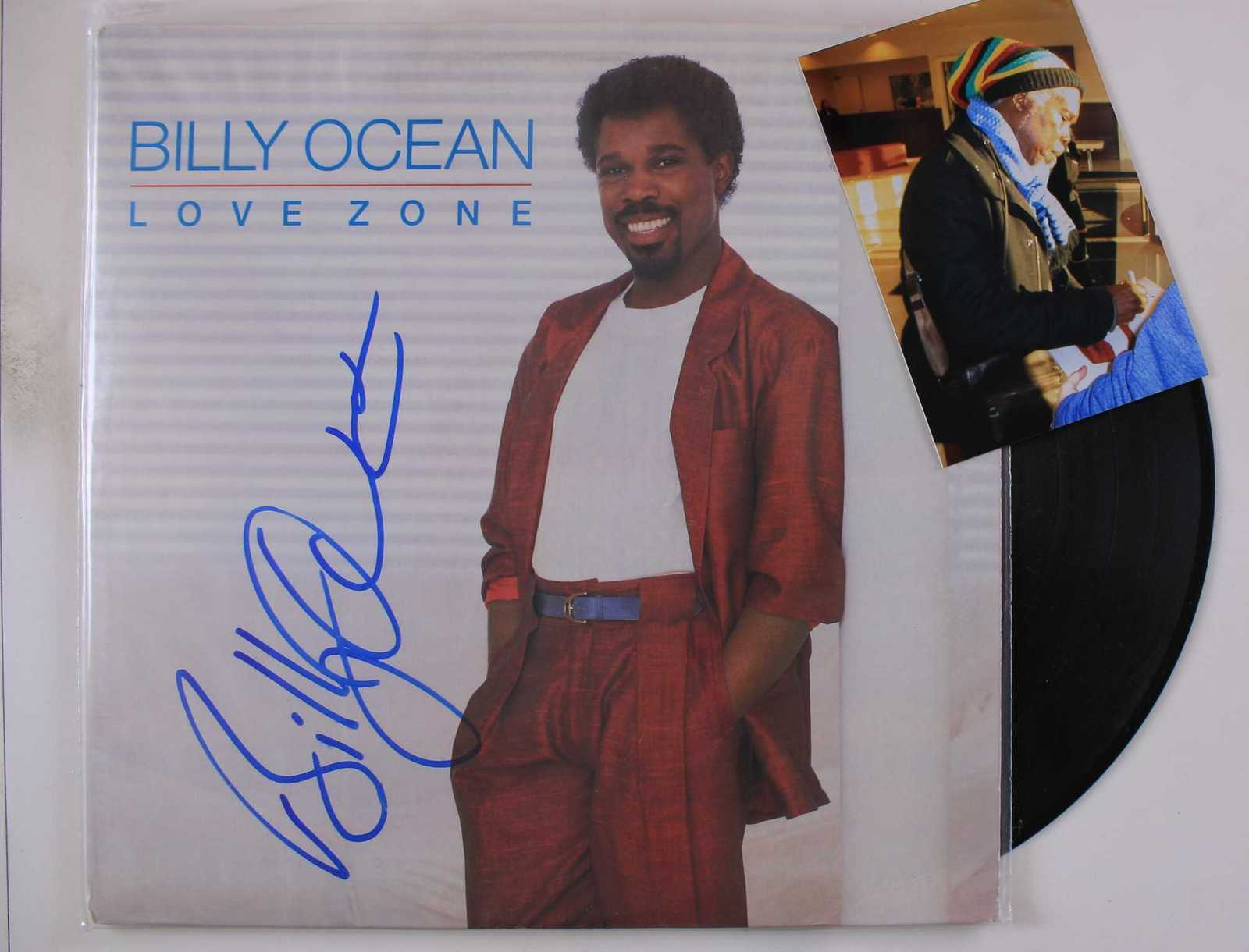 Primary image for Billy Ocean Signed Autographed Record Album w/ Proof Photo