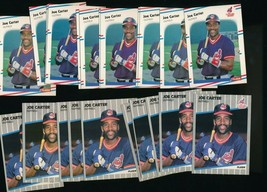 1988 1989 Fleer Indians Joe Carter #400 #605 Lot of 23 - $2.75