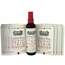 Chateau Spill Red Wine Stain Remover Kit 1 x 4oz Bottle & 10 Individual Wipes |