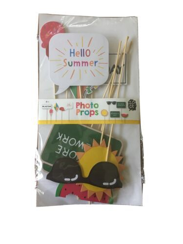Photo Booth Photo Props! Hello Summer No More Homework NEW!
