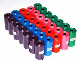 2000 Color DOG PET WASTE POOP BAGS ROLLS Core 2 FREE DISPENSERS Petoutsi... - $29.99