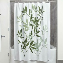 Interdesign Leaves Fabric Shower Curtain, Modern Mildew-Resistant Bath L... - $14.84+