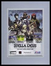 Stella Deus 2005 PS2 Framed 11x14 ORIGINAL Advertisement  - $22.55