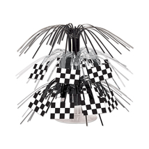 "Beistle Party Decoration Checkered Flag Mini Cascade Centerpiece 7.5""- 1... - $43.07"