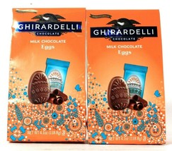 2 Bags Ghirardelli 4.1 Oz Limited Edition Creamy Milk Chocolate Eggs BB ... - $19.99
