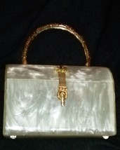 Lucite Hand Bag Purse 1950's Florida Handbag Grandmother Estate - $349.99