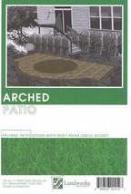 Landworks Design Group DIY Landscape Plans Arched Patio Brick Paver Layout  - $8.35