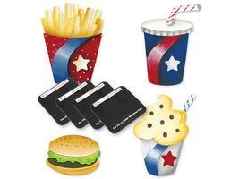 Sizzix Sizzlits Fast Food Die Set #655312 - $13.99