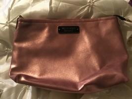 Victoria's Secret Pink gold Zippered Makeup Cosmetic Bag NEW  - $9.49
