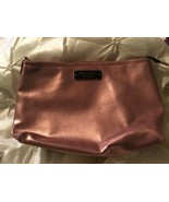 Victoria's Secret Pink gold Zippered Makeup Cosmetic Bag NEW  - $9.49