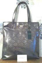 """""""lauren"""" Ralph Lauren Large Gunmetal Grey Tote Beech Bag Vinyl Handbag - $86.94"""