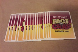 HOLLYWOOD FACT OR CRAP Game replacement pieces parts 16 ANSWER CARDS - $4.99