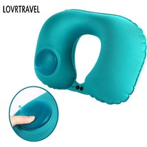 Automatic Inflatable Airplane Neck Pillow Travel Cushion Support Head In... - $247,90 MXN