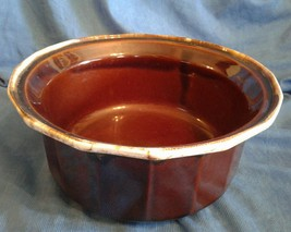 McCoy Pottery Bean Pot 7076 Crock Brown Drip Glaze Bowl Vintage - $40.50