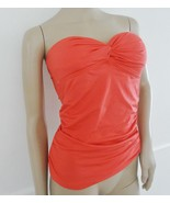 Nwt Calvin Klein Swimsuit Bandeau Ruched Tankini Top Sz S Small Watermel... - $35.59