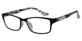 EBE Bifocal Reading Glasses Mens Womens Rectangular Black White Light RX - $35.99