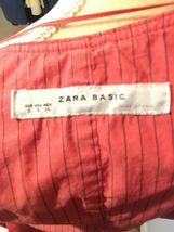 Zara Basic Orange Vest, Buttons & Ties, Size Small image 7