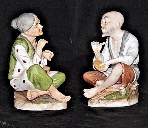 Homco Figurines AA18 - 1156 Pair of Vintage Lady - Gentlemen