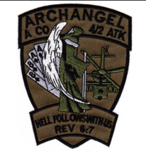 "4.25"" Army Airborne 4TH Bn 2ND Attack Aviation Archangel Embroidered Patch - $23.74"