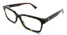 Gucci Eyeglasses Frames GG0168O 006 55-16-140 Havana Made in Italy - $245.00