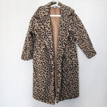 Luxury Fashion Leopard Long Thick  Faux Fur Teddy Bear Coat image 4