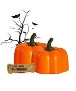 Halloween Pumpkin tealight Battery Powered Candles Halloween Decorative ... - £17.79 GBP