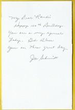 JOE SCHMIDT AUTOGRAPHED  HANDWRITTEN BIRTHDAY CARD DETROIT LIONS - £4.27 GBP