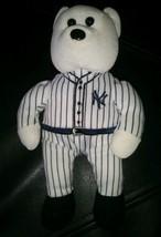 "MLB New York Yankees Pin Stripe Uniform Plush Bear by STEVEN SMITH 8"" tall - $9.87"