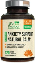 Anxiety Supplements Natural Stress Relief 1000mg - Mood Boost, Thyroid &... - $19.79