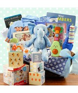 Grand Welcome: Baby Boy Gift Basket - $349.99
