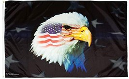 FlagSource Patriotic Eagle Nylon Decorative Flag, Made in The USA, 2x3' - $523,35 MXN