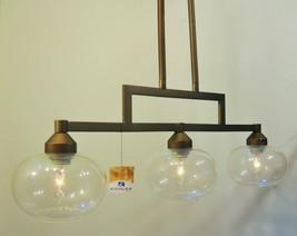 Seeded Clear Glass Kitchen Linear Island Light Bronze Finish Kichler Lighting - $173.01