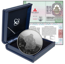 China 5 Yuan, 15 g Silver Coin,2017,Mint,35th Anniv. Issuance of Panda G... - $69.99