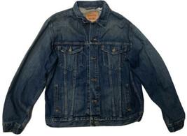 Vintage Men's Levis 70507 XL Jean Denim Button Standard Trucker Blue Jacket - $65.44