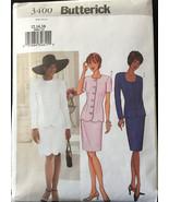 Butterick 3400 Misses/Miss Petite Jacket & Skirt,Scallop Hem Size 12-16  - $6.00