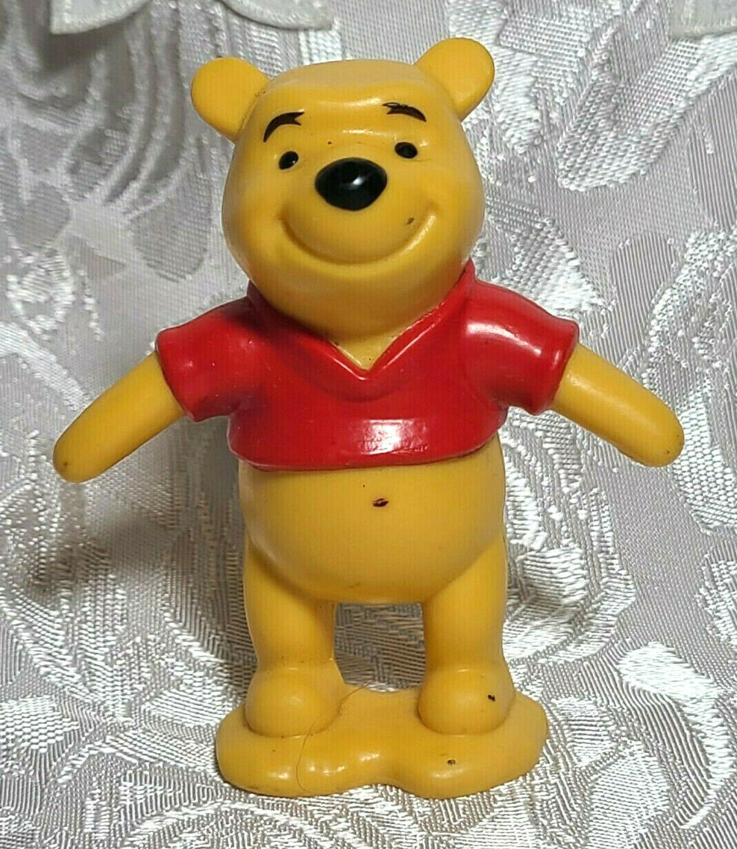 "Winnie The Pooh Bear 3"" PVC Birthday Cake Topper Action Figure Disney Store"