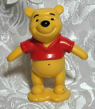 "Winnie The Pooh Bear 3"" PVC Birthday Cake Topper Action Figure Disney Store image 1"