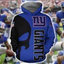 New-York-Giants-Nfl Skull New York Giants 3D Hoodie Unisex Size S-5XL , Gifts Fo - $33.82+