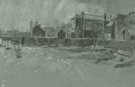 Malcolm Rogers - 1971 Charcoal Drawing, Falmouth - $41.97