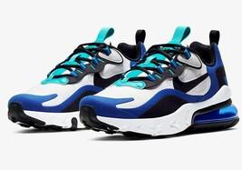 Nike Big Kid's Air Max 270 React Shoes NEW AUTHENTIC White/Hyper Blue BQ... - $124.99