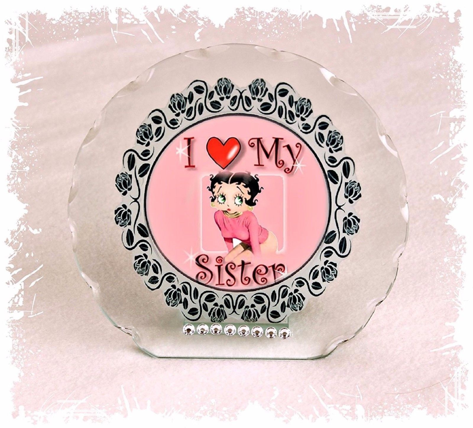Betty Boop Diamante Plaque gift for Sister Perfect keepsake Limited Edition #1