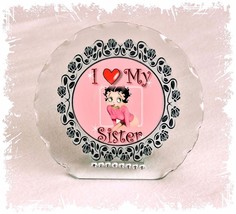 Betty Boop Diamante Plaque gift for Sister Perfect keepsake Limited Edit... - $32.02