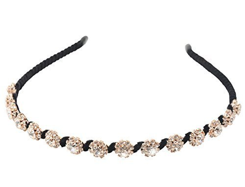 Manual Simple Sweet Rhinestone Headband Hair Bands B