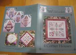 THE WORKBASKET 4 CORNER HOUSES  CROSS STITCH LEAFLET/BOOK - $12.33