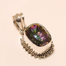 Natural Rainbow Topaz 925 Sterling Silver Jewelry Fashion Vintage Pendant New AA - $18.94