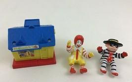 McDonalds Ronald Hamburglar Vintage 1990s Toy Figures Lot 3pc Toys - $9.75